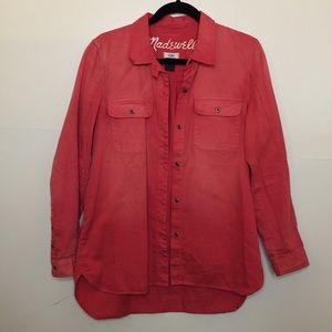 Madewell Distressed Button Down Shirt